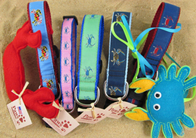Crab Dog Collars and Crab Cat Toys