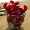 Red Crab Dog Toys Made in USA at PawsPetBoutique.com