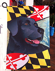 Maryland Dog Flag, Black Lab