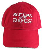Red Sleeps with Dogs Baseball Hats