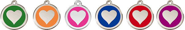 Stainless Heart Pet ID Tags with Free Shipping