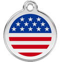 Patriotic USA Engraved Dog Tags