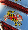 http://www.pawspetboutique.com/light-blue-maryland-flag-crab-dog-leashes/