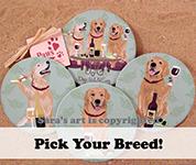 Wineing Dog Coasters | Wine Dog Coasters