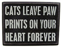 Cats Leave Paws Prints On Heart Signs for Cat Lovers