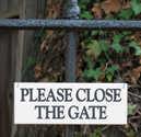 Inexpensive Please Close the Gate Signs made in USA