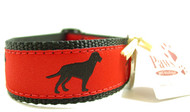 Black Labrador Ribbon Dog Collars