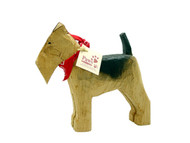 Carved Wooden Airedales