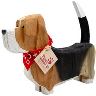 Carved Wood Basset Hounds