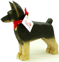 Carved Wood Dobermans