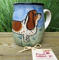 Hand-painted Basset Hound Mug made in USA
