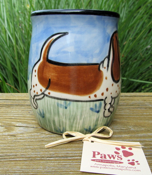 Tail End of Whimsical Basset Hound Mug