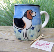 Hand-painted Beagle Mugs made in America