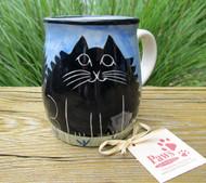 Fluffy Black Cat Mug made in USA