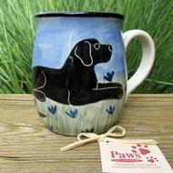 Black Lab Hand-painted Whimsical Dog Mug