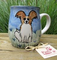 Brown and White Paillon Coffee Mug