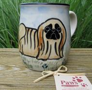 Hand-painted Pekingese Mug made in USA