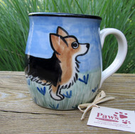 Hand-painted Tri-color Corgi Mug