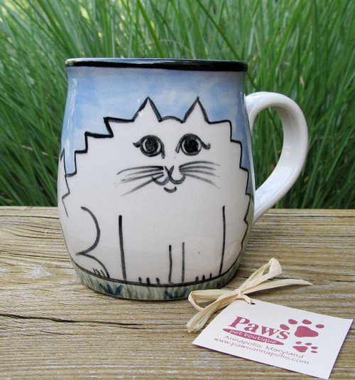 Hand-painted Kitty Mug made in USA