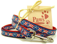 """Patriotic Paws 1/2"""" Toy Dog Leashes"""
