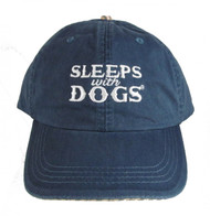 "Classic and Fun...Blue ""Sleeps with Dogs"" Baseball Hats"