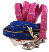 Tiny Dog Anchor Leashes in Pink or Blue