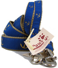 Blue Anchor Nautical Dog Leashes