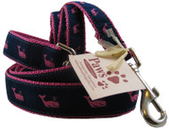 Pink Whale Dog Leashes