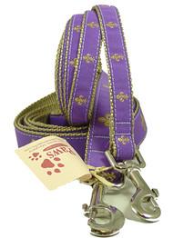 Purple Fleur De Lis Dog Leashes