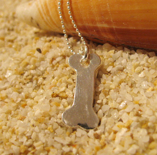 Silver Dog Bone Charms