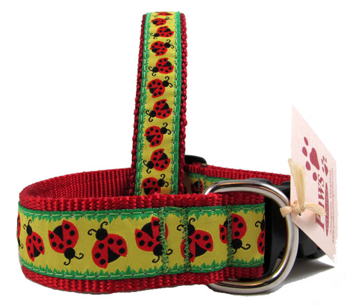 Lucky Red Lady Bugs on Yellow Dog Collars