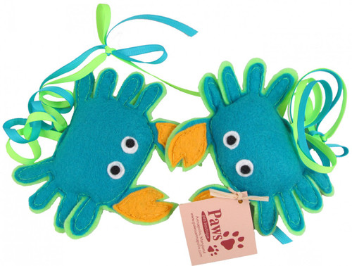 Blue Crab Felt Catnip Toys are Proudly Made in USA