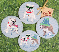 English Bulldog Party Animal Coasters