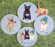 French Bulldog Coasters to make you smile!