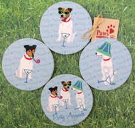 Party Animal Jack Russell Coasters