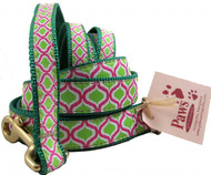 Lime Green and Pink Dog Leashes made in USA