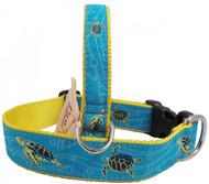 Swimming Sea Turtle Dog Collars made in USA