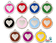 Stainless Steel Heart ID Tags with Free Shipping