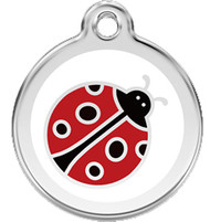 Lady Bug Stainless Steel Identification Tags