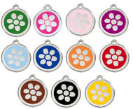 Choose from 11 enamel colors to create your personalized pet tag.