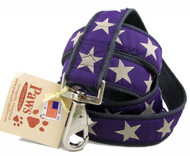 Hemp Dog Leashes finished with Purple Star Ribbon