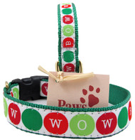 Cheery Holiday Dog Collars are USA Made