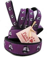 Natty Boh Dog Leashes with Purple Ribbon are made in USA.