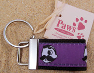 Dog walks are easier when you keep a spare home key nearby on a Natty Boh Key Chain