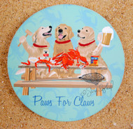 Crabs and Golden Retrievers Coaster Set