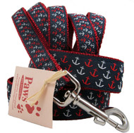 Splashy Anchor Dog Collars with a Classic Nautical Style.