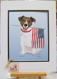 Patriotic Jack Russell Prints created by a U.S. Artist