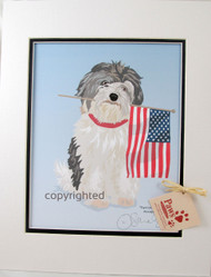 Patriotic Havanese Art Prints
