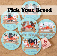 Crabby Dog Coasters are Available in Most Dog Breeds.