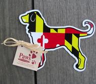 Maryland Flag Dog Stickers